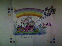 Cross stitch square for Katie J's quilt