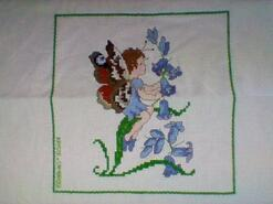 Cross stitch square for Violet J's quilt