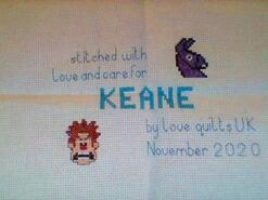 Cross stitch square for Keane's quilt