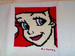 Cross stitch square for Isla G's quilt